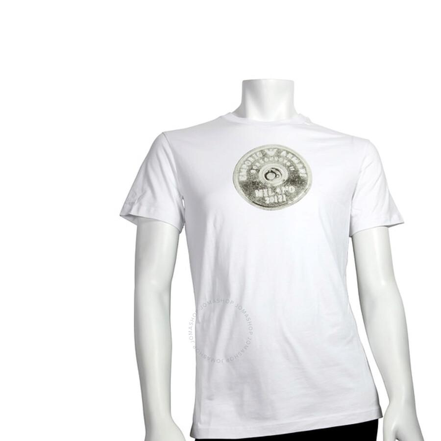 emporio armani female emporio armani crew short sleeve ladies tshirt b152tjb104jwhl