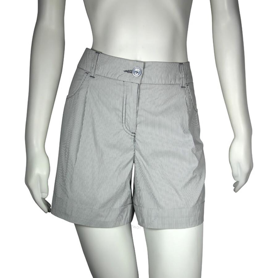 emporio armani emporio armani pleated front shorts size 10