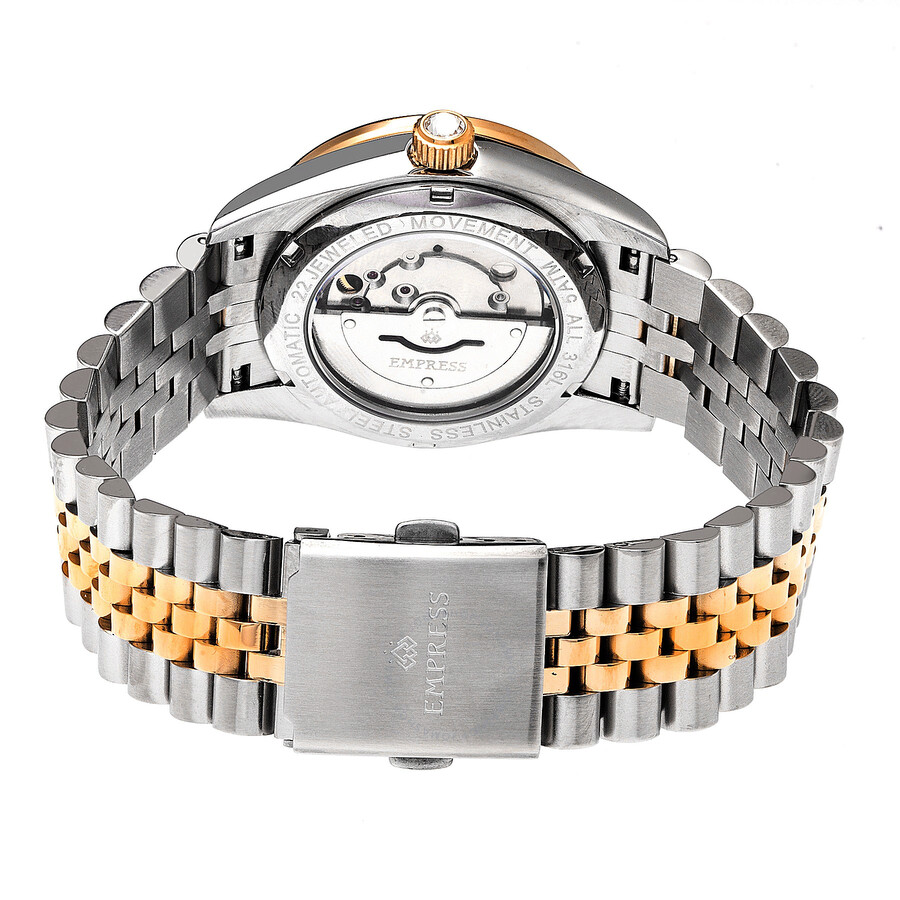 bracelet ladies watches dial watch automatic empress crystal silver constance