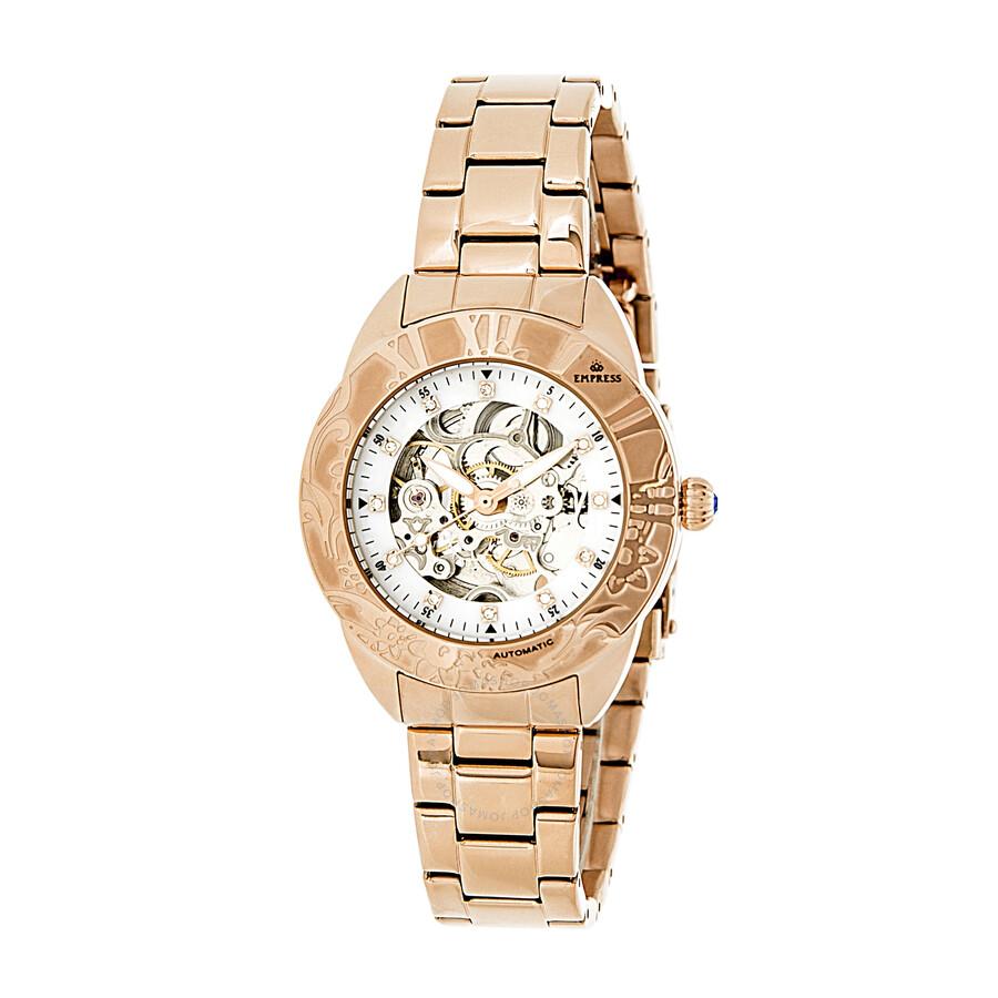 Empress Godiva Automatic White Dial Ladies Watch EMPEM1103