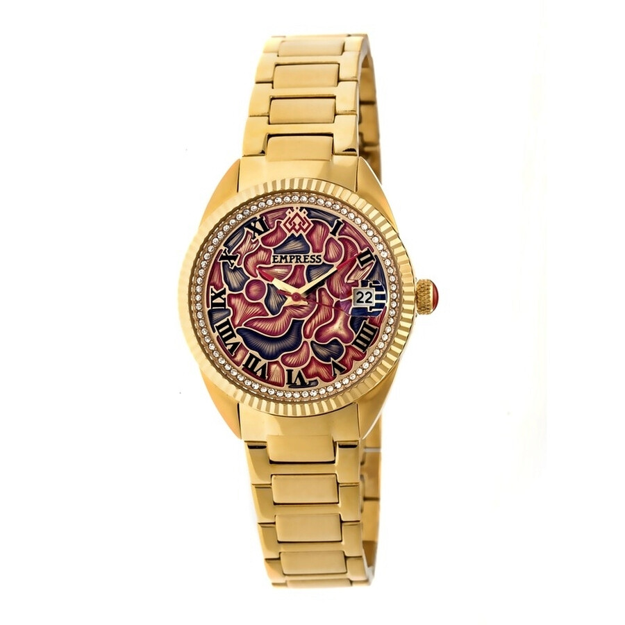 Empress Helena Custom Vitreous Enamel Dial Gold-tone Steel Case Automatic La..