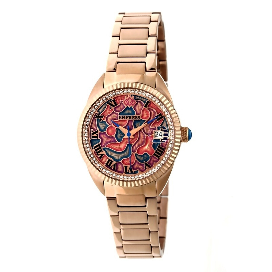 Empress Helena Custom Vitreous Enamel Dial Rose Gold-tone Steel Case Automat..