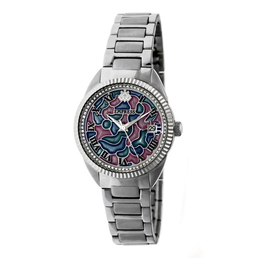 Empress Helena Custom Vitreous Enamel Dial Steel Case Automatic Ladies Watch..