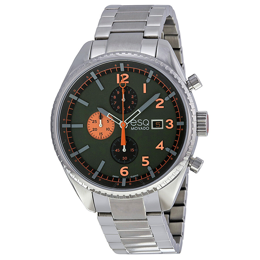 ESQ Catalyst Chronograph Dark Green Dial Stainless Steel Mens Watch 07301447