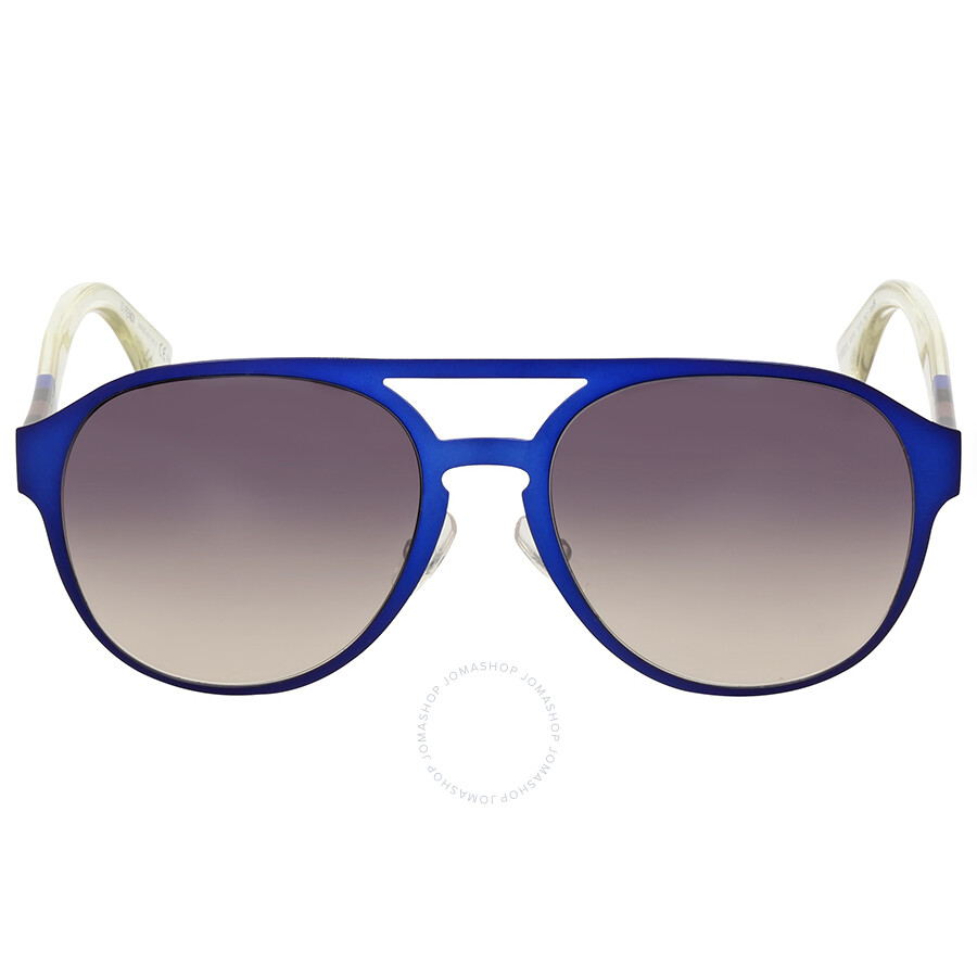 fendi fendi pequin aviator blue crystal dark grey shade sunglasses