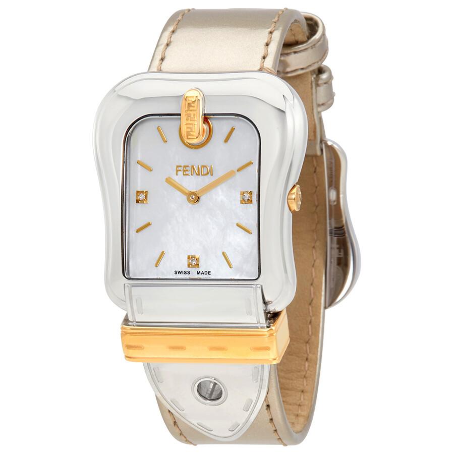Fendi B. Fendi White Mother of Pearl Dial Ladies Watch F380114561D1