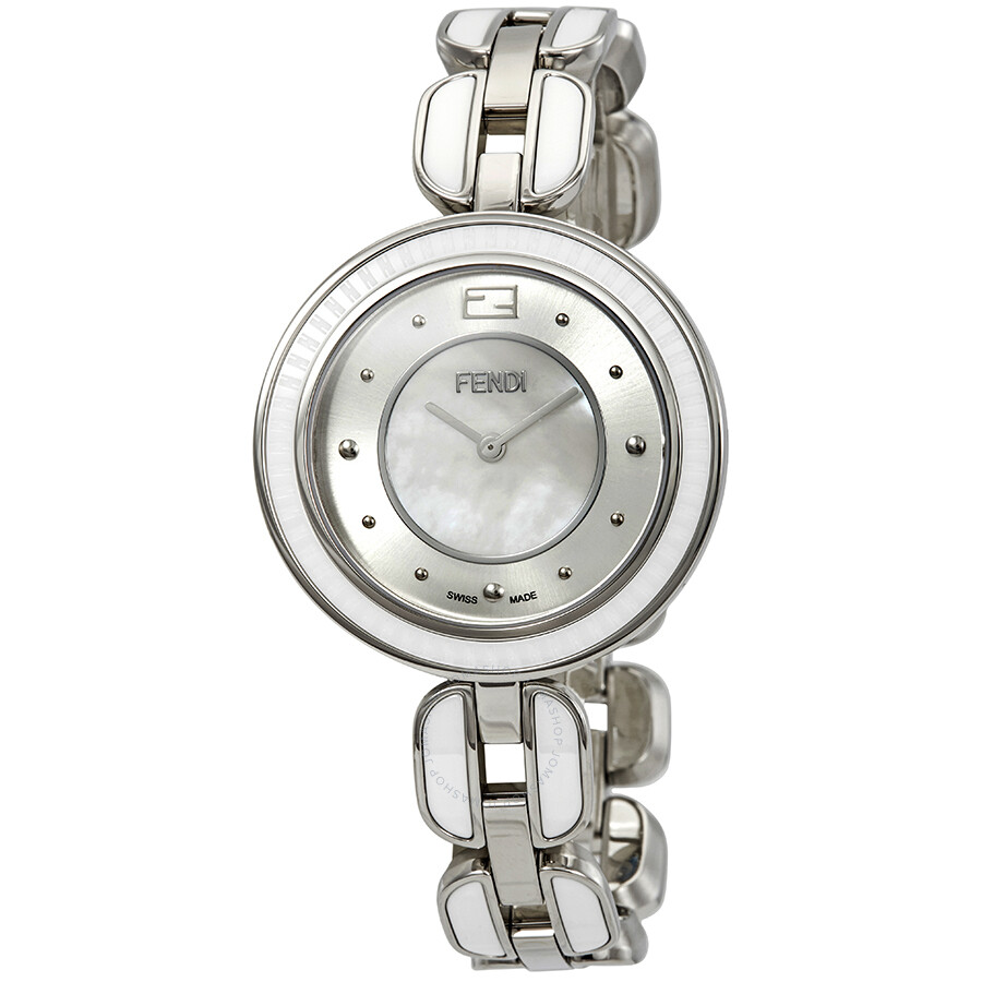 Fendi My Way Grey Sunray / Mother of Pearl Dail Ladies Watch F373034504