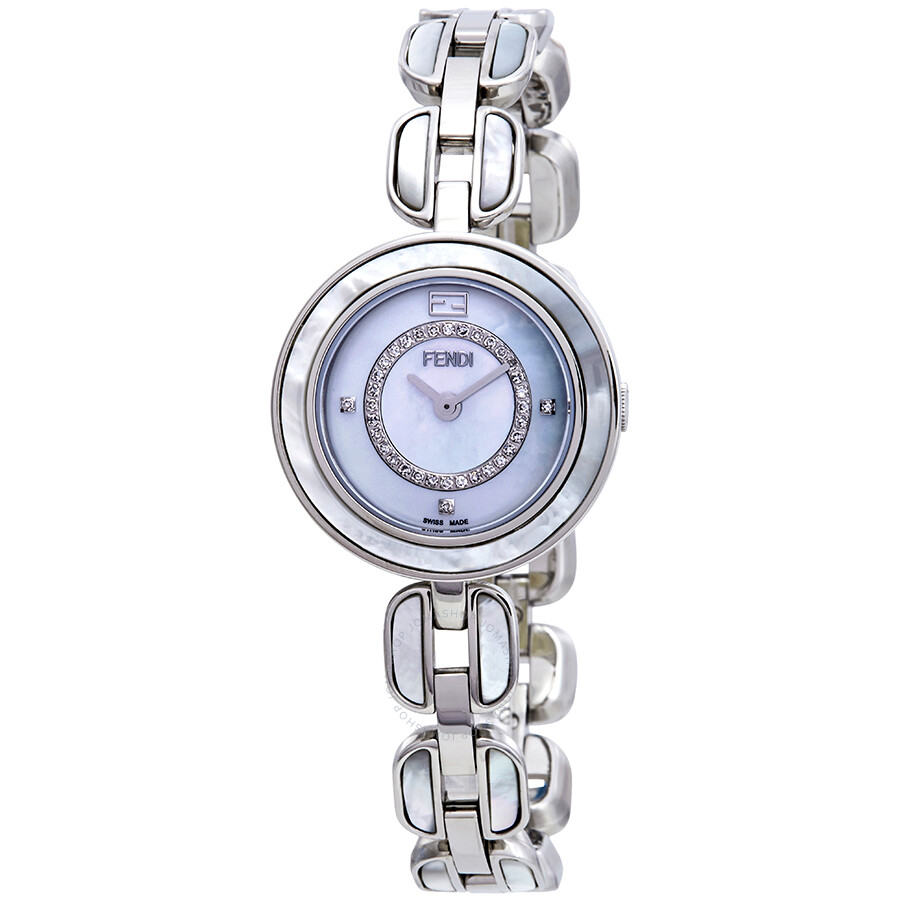 Fendi My Way Mother of Pearl Diamond Dial Ladies Watch F361024500D3