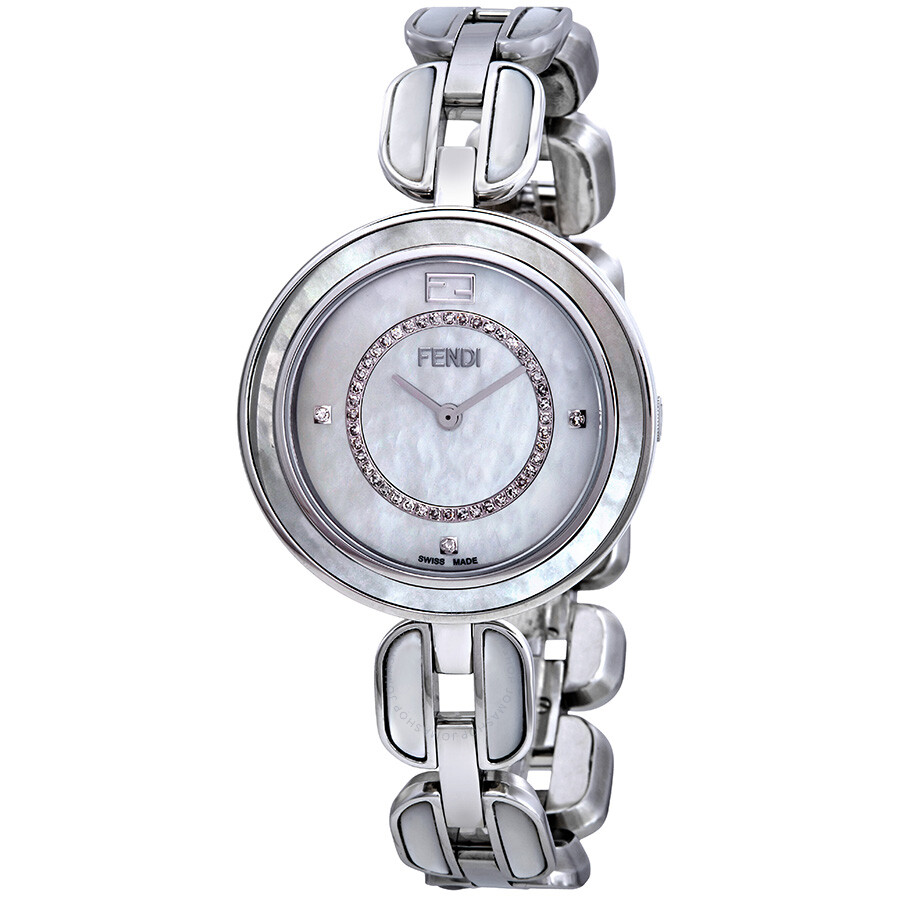Fendi My Way Mother of Pearl Diamond Dial Ladies Watch F361034500D3