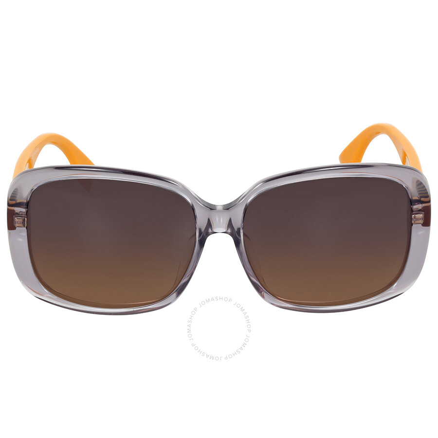 fendi fendi pequin oversize grey ochre asia fit sunglasses