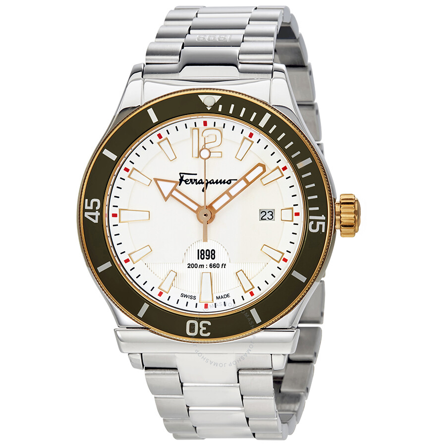 Ferragamo 1898 White Dial Mens Watch FF3150014