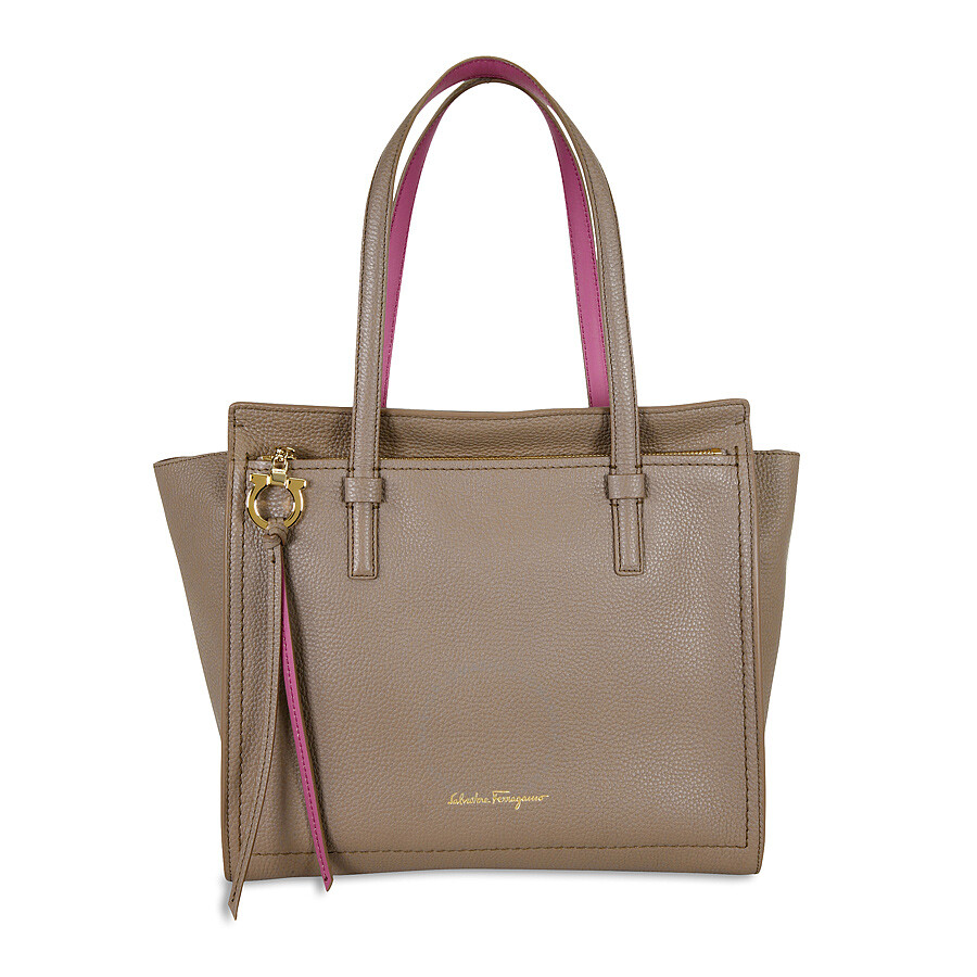Ferragamo Amy Leather Tote- Pink at Jomashop.com & JomaDeals.com
