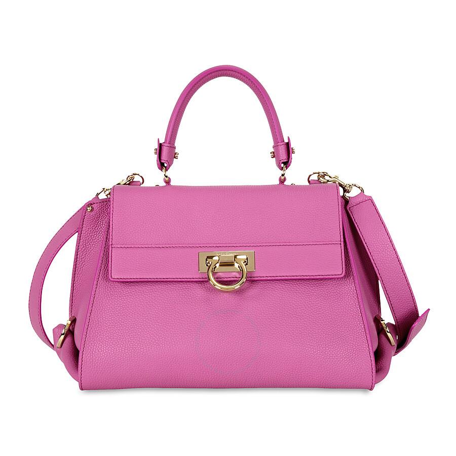 Ferragamo Sofia Pink Satchel Handbag at Jomashop.com & JomaDeals.com