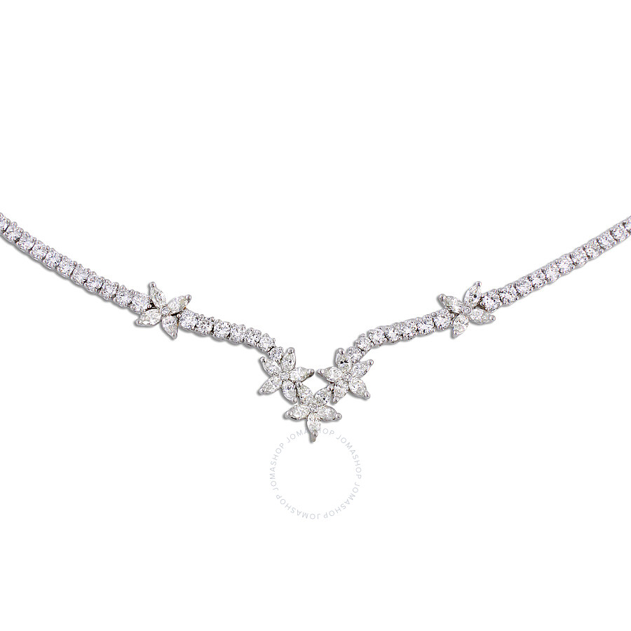 womens necklace s main ct diamond premier stone product platinum in women three