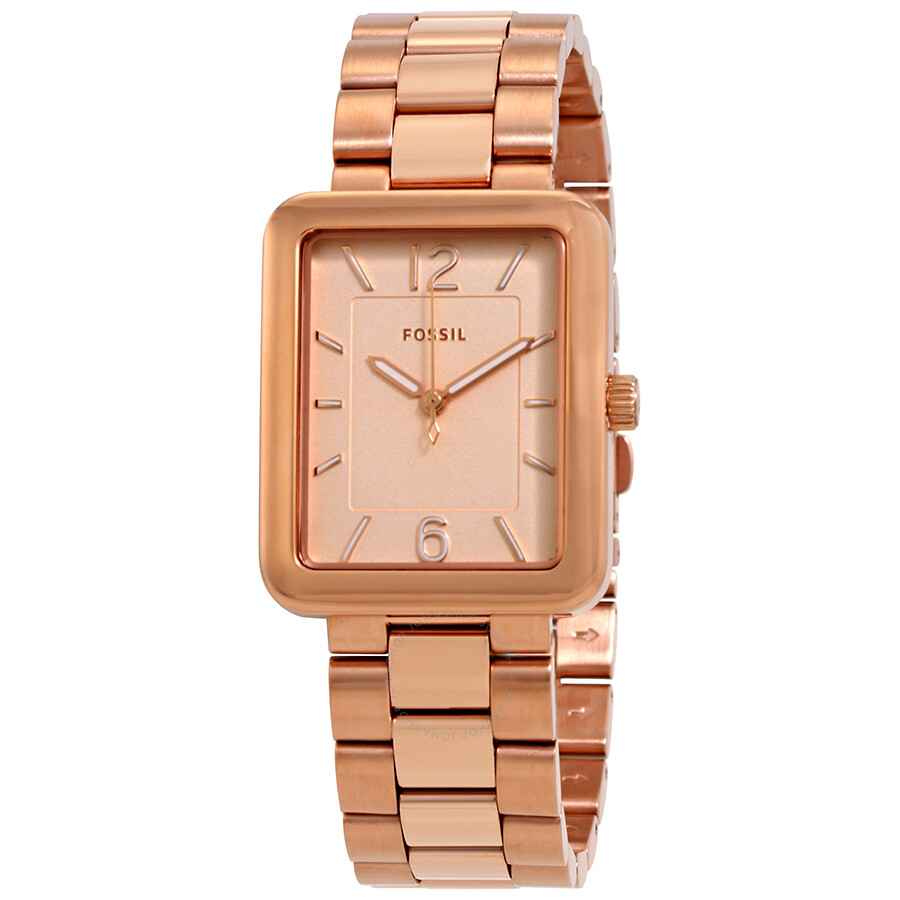 Luxury Watches Pens Handbags And Crystal Fossil Es3590 Stella Multifunction Rose Tone Stainless Steel Watch Atwater Gold Dial Ladies Es4156