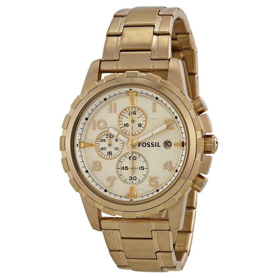 fossil rose gold watch mens