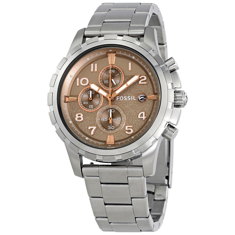 Fossil Dean Chronograph Light Brown Dial Mens Watch FS5339