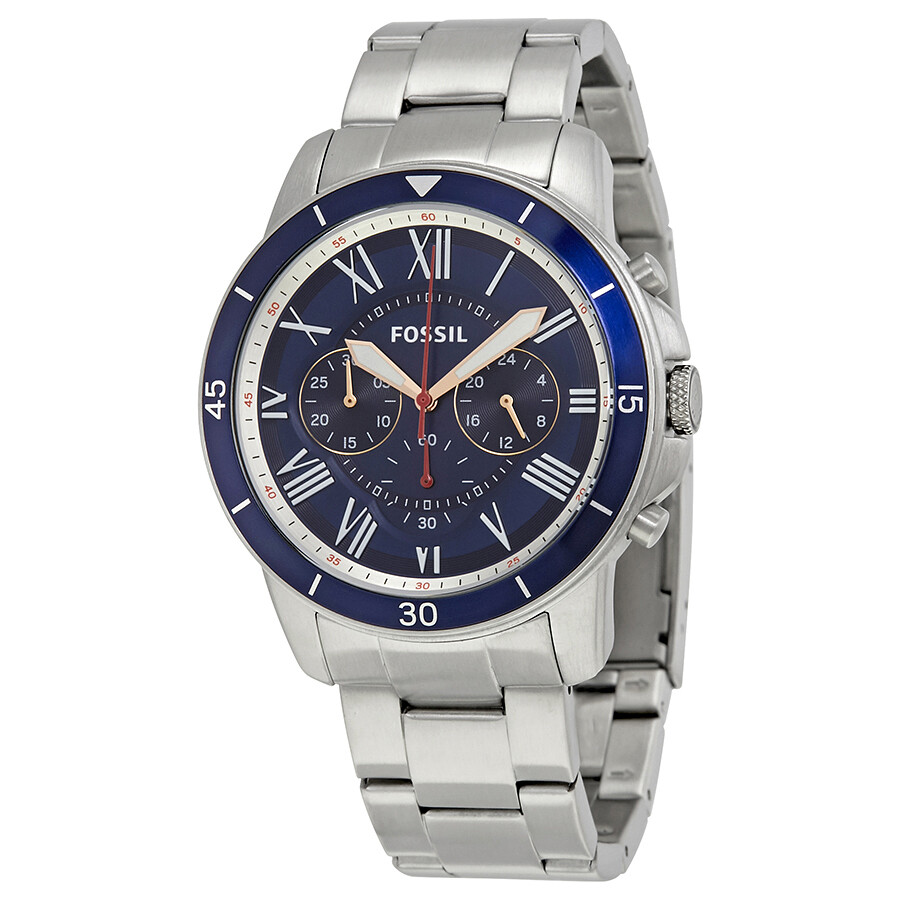 fossil fossil grant sport chronograph blue dial menswatch fs5238