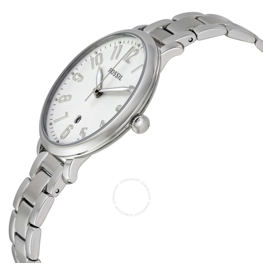 Fossil Modern Pursuit Chronograph White Silicone Watch Es 3981 Jam Tangan Wanita Original Es4222 Chrono Jacqueline Silver Dial Ladies Casual Es3969 2