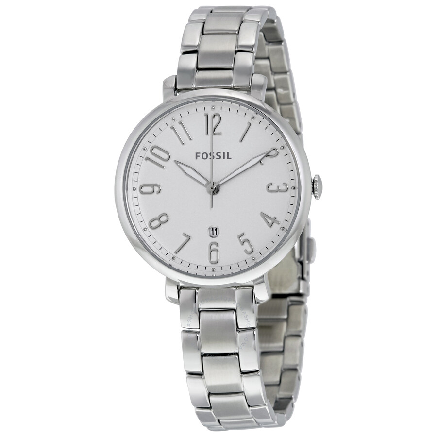 ... fossil jacqueline silver dial ladies casual watch es3969 5