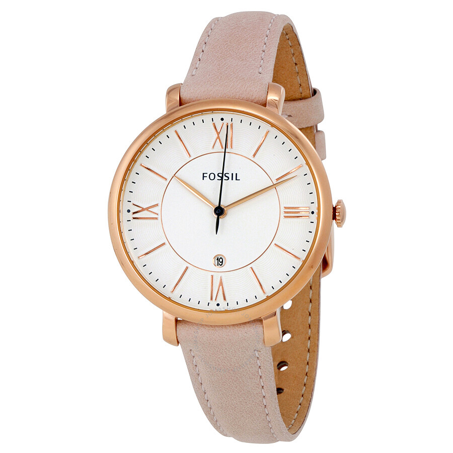 Fossil jacqueline white dial ladies casual watch es3988 jacqueline fossil watches jomashop for Casual watches
