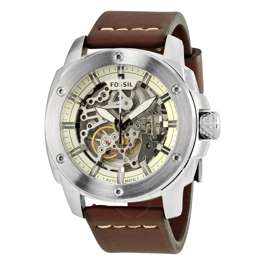 shoppinghuts skeleton shop mechanical mens men case leather gold watches watch transparent