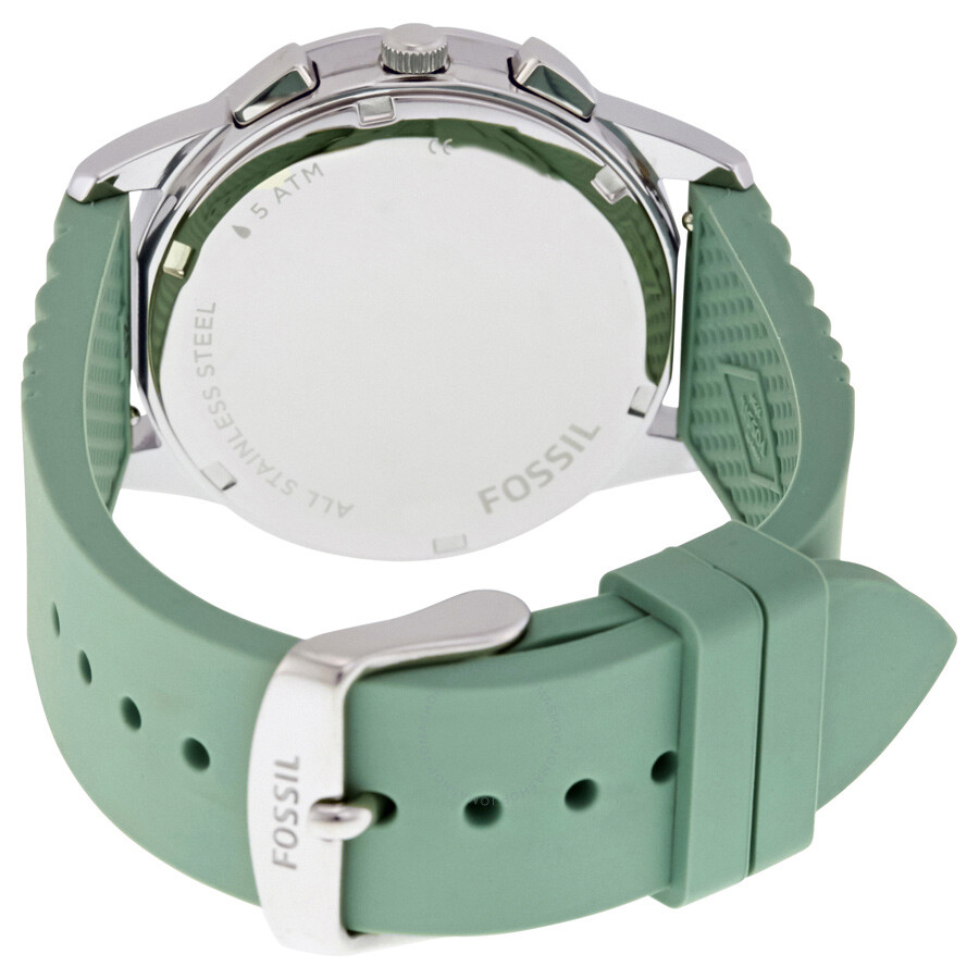 Fossil Modern Pursuit Chronograph White Silicone Watch Es 39817 Jam Tangan Wanita Original Es4222 Chrono Ladies Es4023