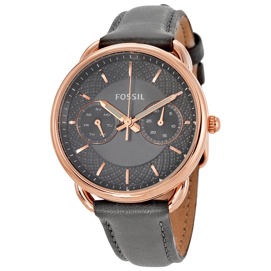 Fossil Tailor Multifunction Leather Gotteamdesigns Es3954 Light Brown Watch Gray Dial Ladies Es3913 Womens Es4007