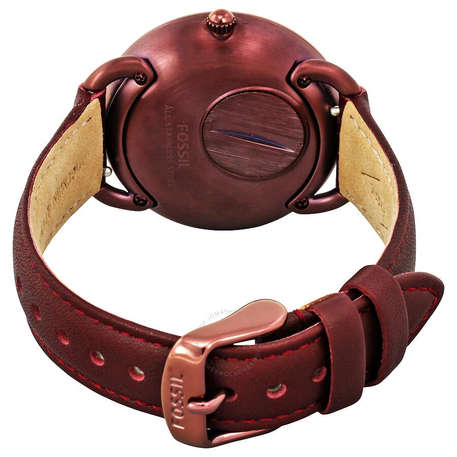 Fossil Tailor Multifunction Leather Gotteamdesigns Es3954 Light Brown Watch Bordeaux Dial Ladies Es4121