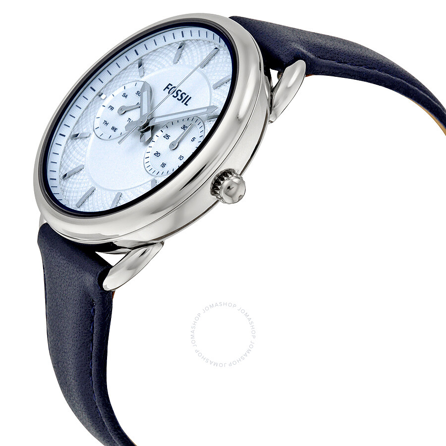 Atch Es3966 Ladies Fossil Watch Collection Gotteamdesigns Es3954 Tailor Multifunction Light Brown Leather Silver Dial Blue