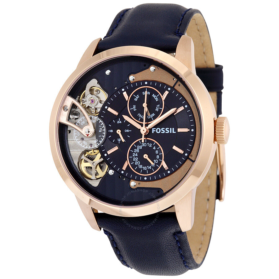 Blue Products For Fossil Online South Africa Perfect Boyfriend Es4093 Navy Male Townsman Mulifunction Dial Mens Watch Me1138