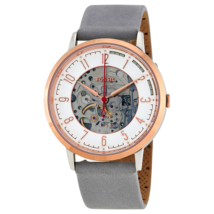 Fossil Vintage Muse Automatic Skeleton Dial Watch ME3131
