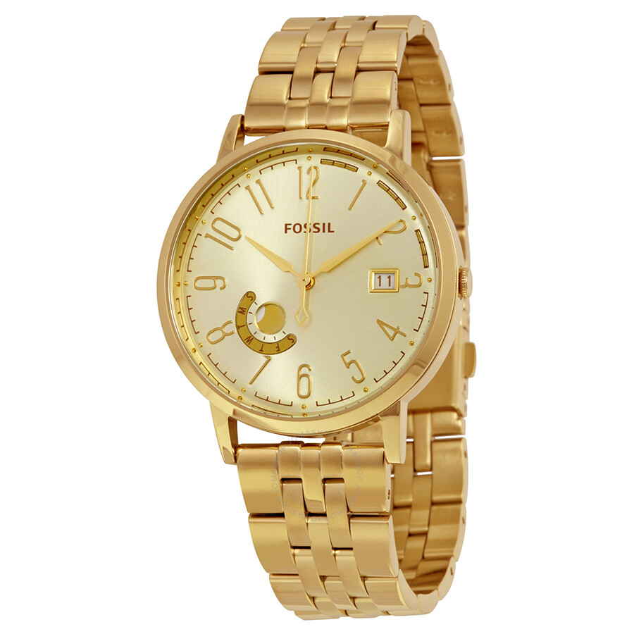 Fossil Vintage Muse Champagne Dial Gold-tone Ladies Watch ES3788