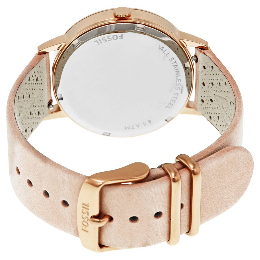 Fossil Modern Pursuit Chronograph White Silicone Watch Es 3981 Jam Tangan Wanita Original Es4222 Chrono Vintage Muse Dial Ladies Casual