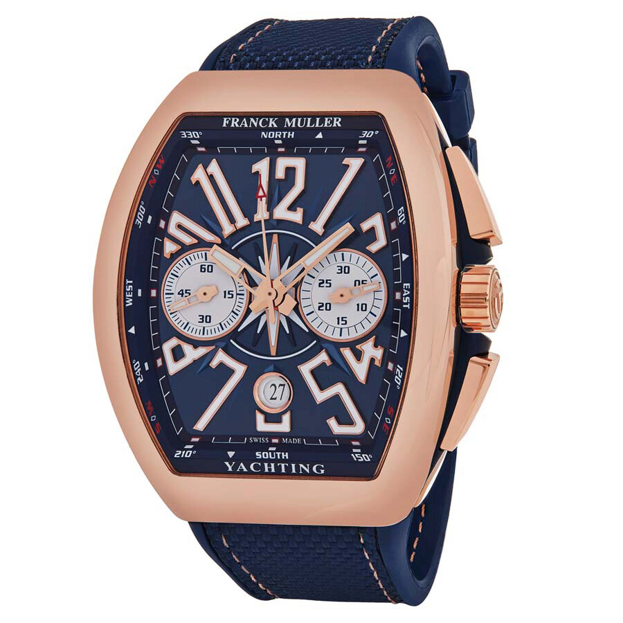 Franck muller vanguard chronograph automatic blue dial men 39 s watch 45ccyachtgld franck muller for Franck muller watches