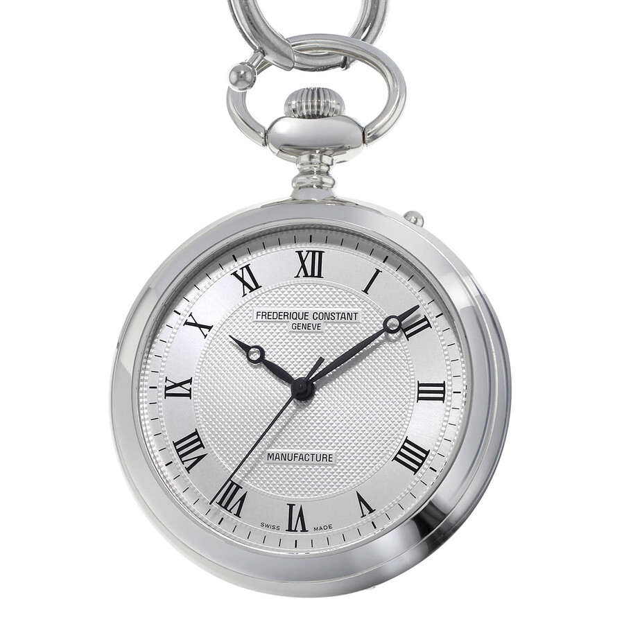 Frederique Constant Manufacture Silver Dial Pocket Watch FC-700MC6PW6