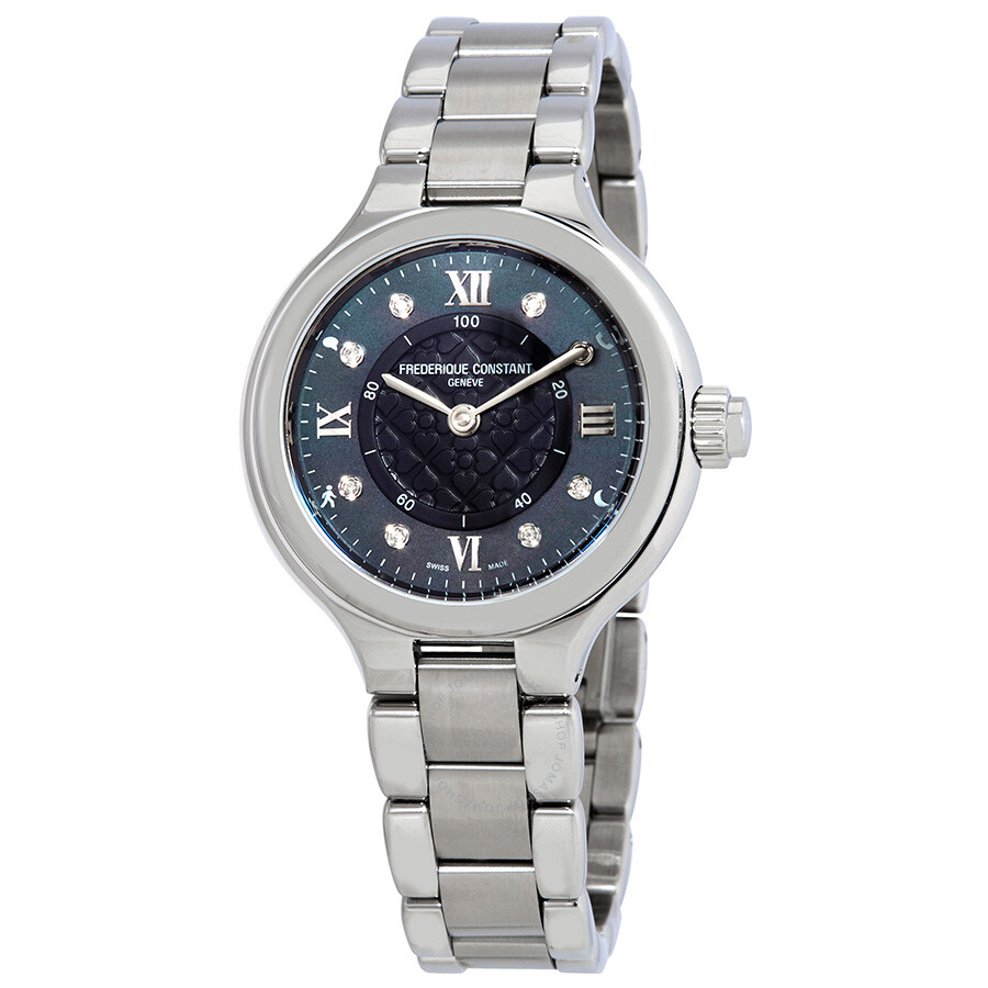 Frederique Constant Smarwatch Grey Mother of Pearl Ladies Watch FC-281GHD3ER6B