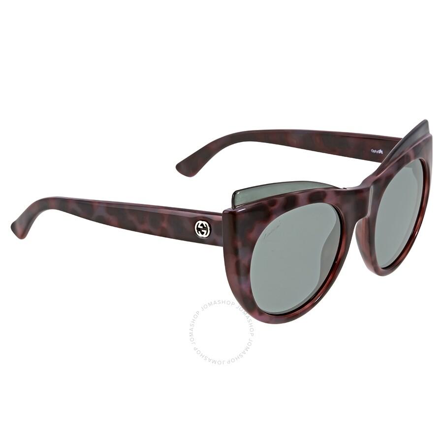 dbbb948d3ec Gucci Pink Havana Cat Eye Sunglasses - Gucci - Sunglasses - Jomashop