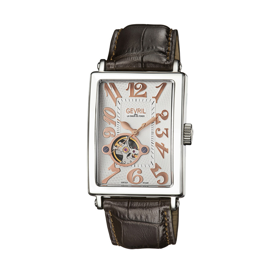 Gevril Avenue of Americas Open Heart Automatic Mens Watch 5070