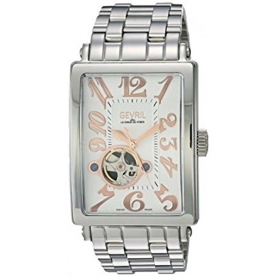 Gevril Avenue of Americas Open Heart Automatic Mens Watch 5070B