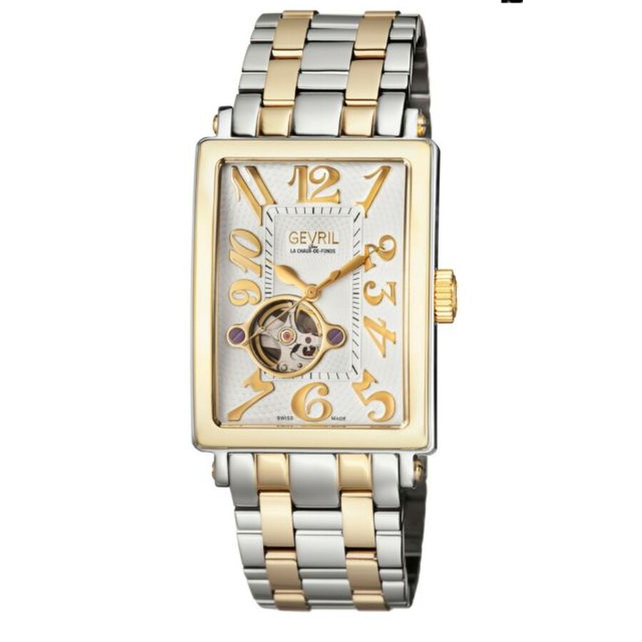 Gevril Avenue of Americas Open Heart Automatic Mens Watch 5073B