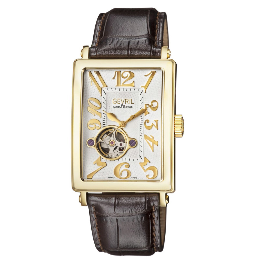 Gevril Avenue of Americas Open Heart Automatic Mens Watch 5174