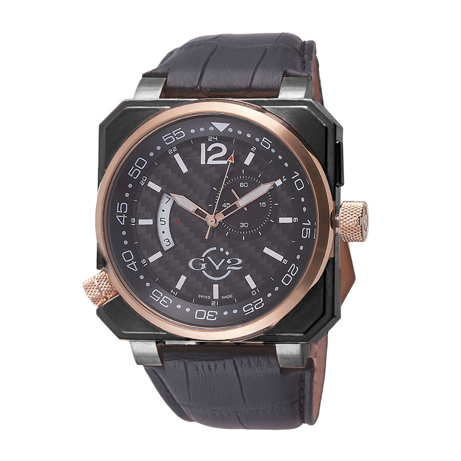 Gevril gv2 xo submarine carbon fiber dial men 39 s watch 4525 gv2 by gevril watches jomashop for Gevril watches
