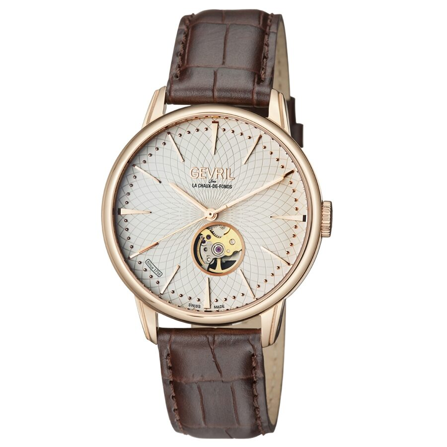 Gevril mulberry open heart automatic men 39 s watch 9602 gevril watches jomashop for Gevril watches