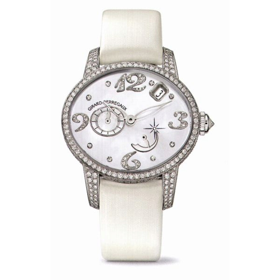 Girard Perregaux Cats Eye 18kt White Gold Diamond Automatic Ladies Watch 80480D53P762-KK7A