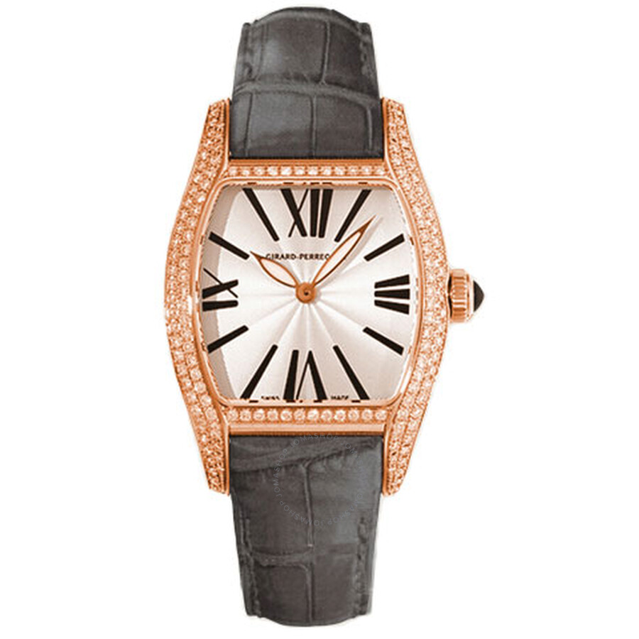 Girard Perregaux Richeville Silver Dial 18K Pink Gold Diamond Ladies Watch 02656D0Q52-143