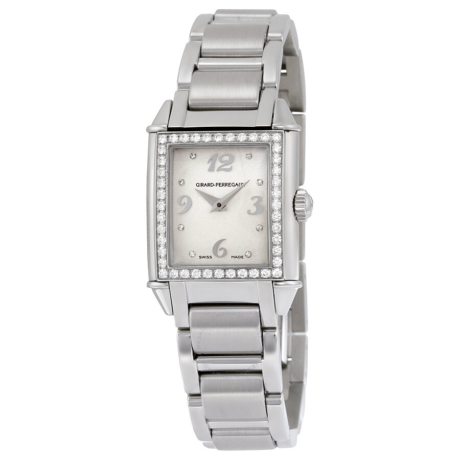 Girard-Perregaux Vintage 1945 Silver Dial Ladies Stainless Steel Watch 25890D11A761-11A
