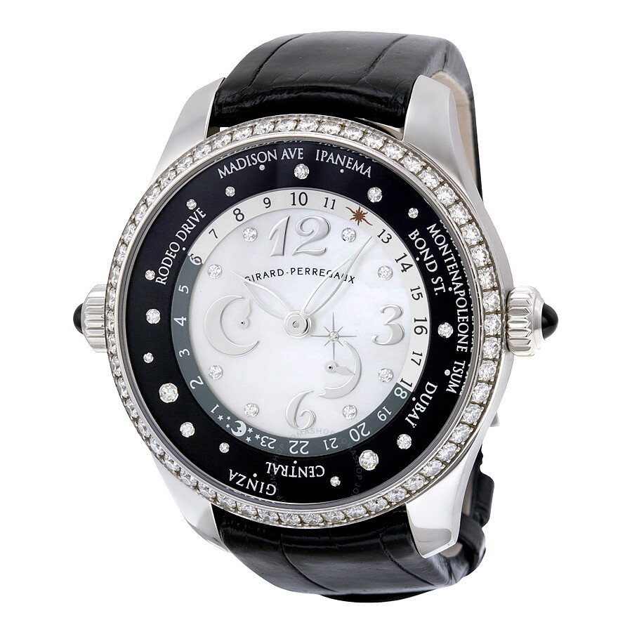 Girard Perregaux WW. TC Mother of Pearl Dial Diamond Automatic Unisex Watch 49860D11A762ACK6A