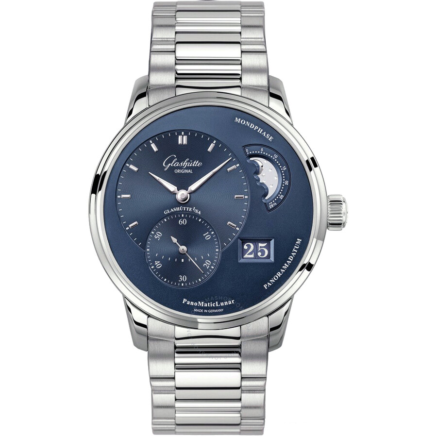 Glashutte PanoMaticLunar Blue Dial Automatic Mens Watch 90-02-46-32-70