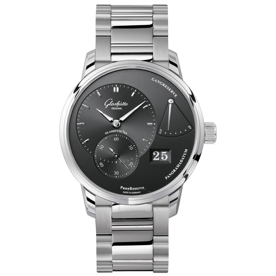 Glashutte PanoReserve Ruthenium Dial Mens Watch 65-01-23-12-24